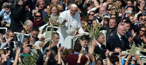 Papa Francisco en Misa de Ramos
