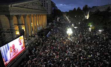 vigilia Papa Buenos Aires